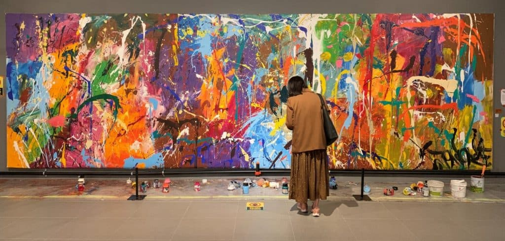 JonOne vandalised painting