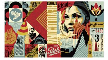 Shepard+Fairey,+Obey+Ideal+Power+Mural